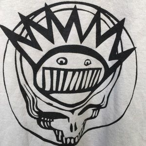 Grateful Dead x Ween Band Tee Size Large Cream